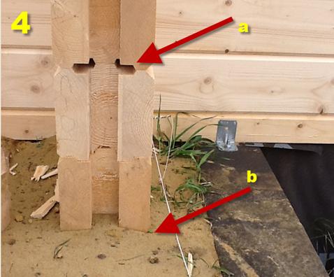 Фотографии ошибки при  строительстве сруба  из деревянного бруса