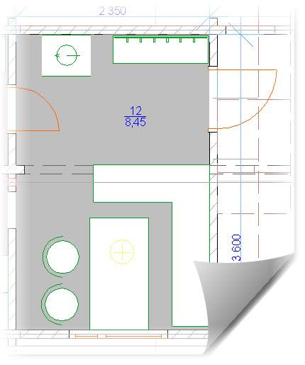 План комнаты для отдыха в бане