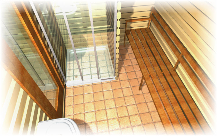 Мыльная комната в бане и сауне. Фото.