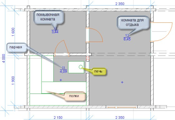 Проекты бани - Планируем размер бани