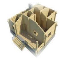 3D - модель бани.