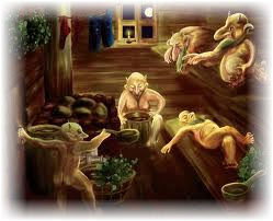 Духи бани. Фото