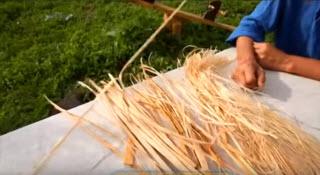 Волокна лыковой мочалки перед изготовлением