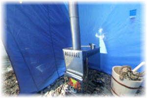 Печь для мобильной бани Алтай