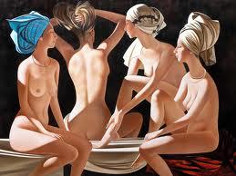 Художественные картины о бане и сауне
