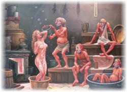 Анекдоты в бане и сауне