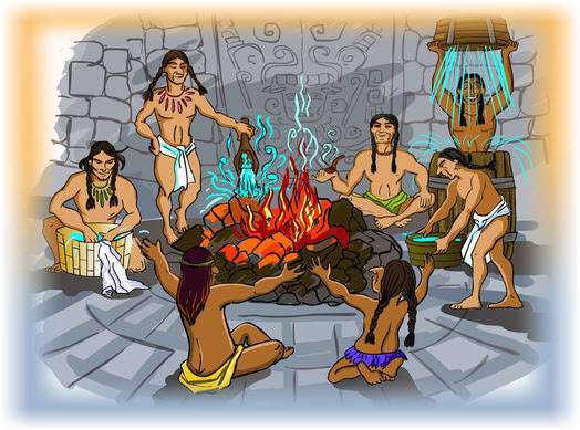 Темаскаль - ацтекские бани древних американских индейцев. Фото