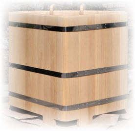 Квадратная купель - бассейн для сауны и бани. Фото