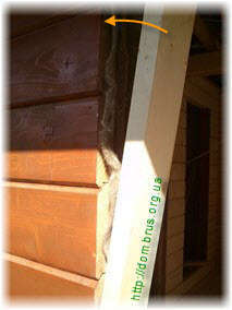 Боковая стенка обсадной коробки окна. Фото