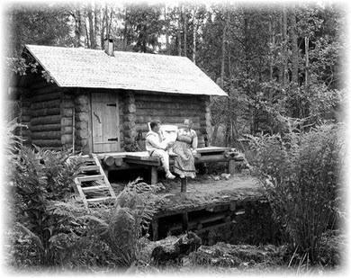 Черно-белые бани. Фото