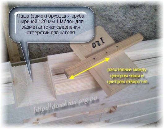 Шаблон разметки отверстий для деревянного нагеля