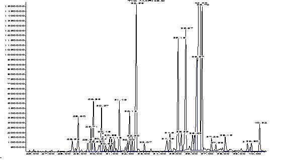 Хроматограмма сандалового масла