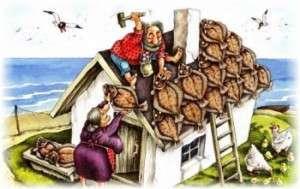 Как сделать крышу бани. Фото