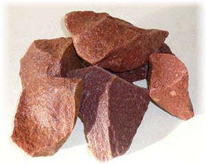 Малиновый кварцит для печей русских бань и саун