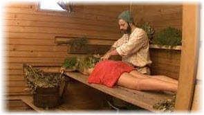 Массаж вениками в бане и сауне