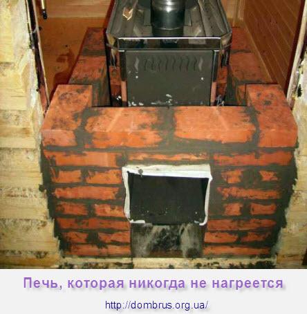 Кирпичная Печь для бани которая быстро не нагреется