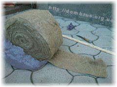 Леноволокно или джутовый утеплитель . Фото