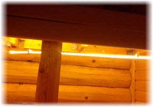 Светодиодное освещение бани. Фото