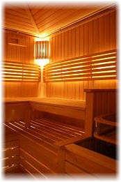 Декоративная подсветка сауны. Фото
