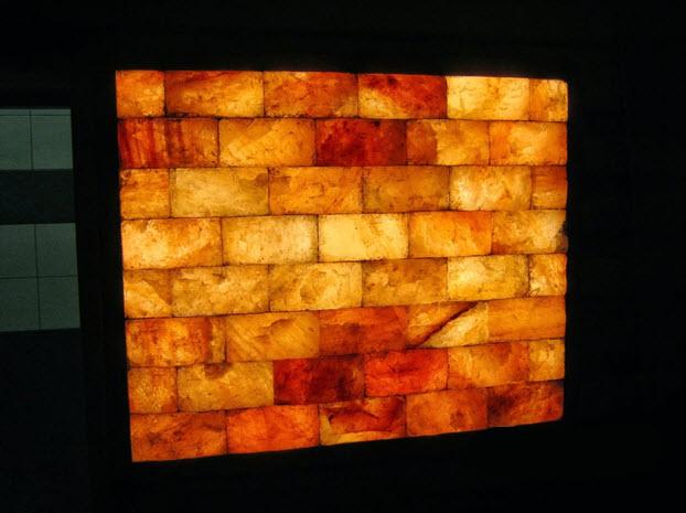 панно из гималайской соли - освещение