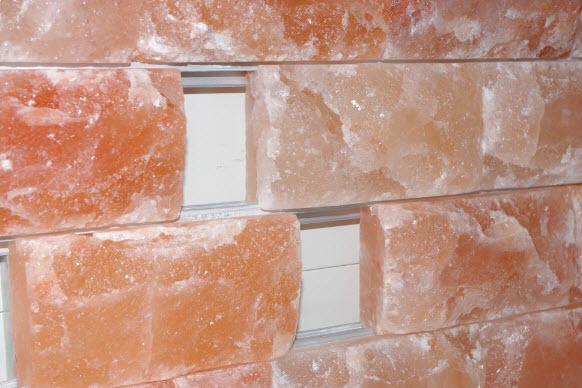 Монтаж панно из гималайской соли на профиль из алюминия