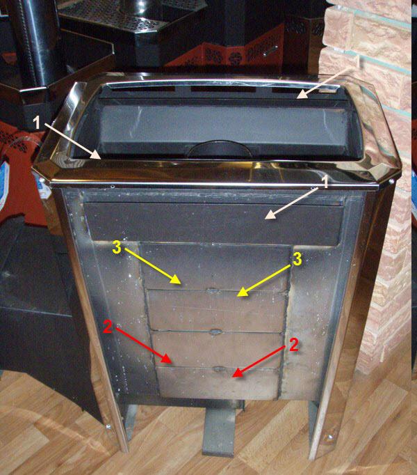 генератор пара на стальной печи для русской бани