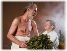 Пар в русской бане и сауне