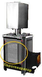 Парообразователь или парогенератор от теплодара. Фото