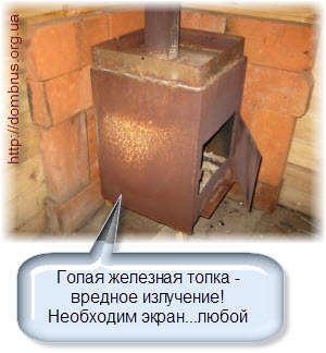 Установка стальной печи в бане и сауне