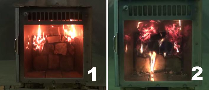 Особенности закладки дров в подовую печь верхнего горения
