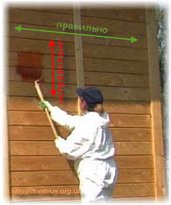 Ошибки покраски деревянных срубов. Фото