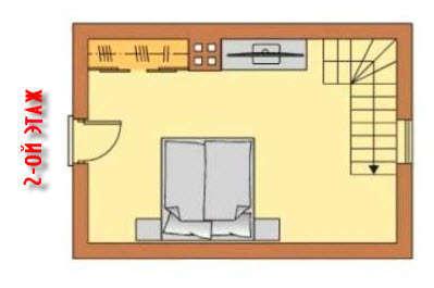 Проект гостевой бани с комнатой для гостей