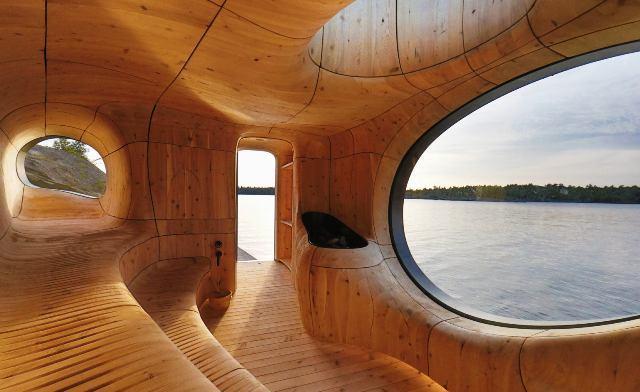 Необычная сауна на озере Гурон. Проекты сауны от дизайнеров
