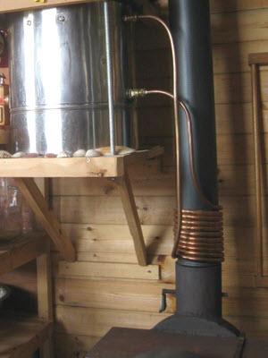 Регистр теплообменник в виде змеевика на трубу