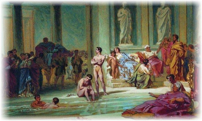 Римские термы и бани. Фото