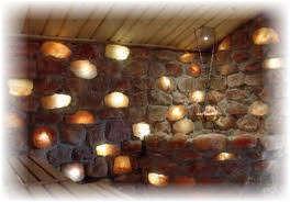 Соляные панели в бане и сауне. Фото