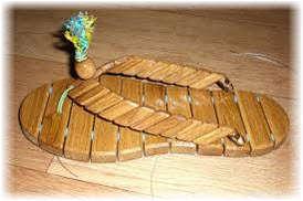 тапочки для бани и сауны  из дерева