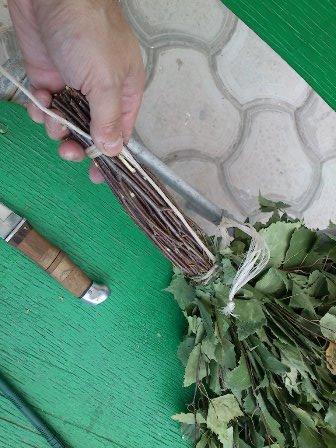 надежный способ вязание веника для бани
