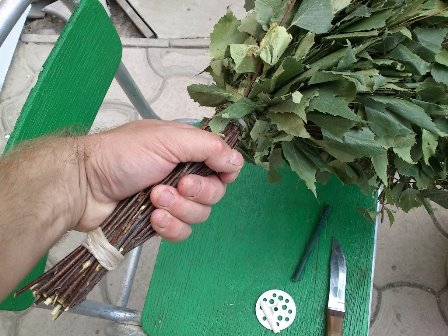 как надежно связать веник из березы