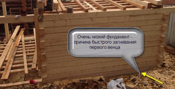 причины замены венцов деревянного дома