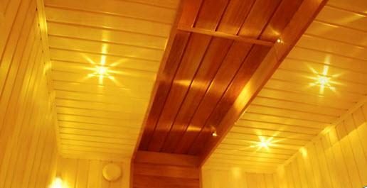 точечная подсветка парилки в бане и сауне